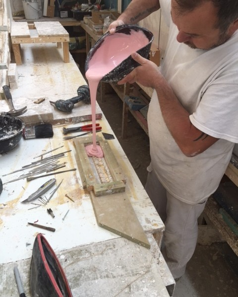 Pouring paper mache enrichment
